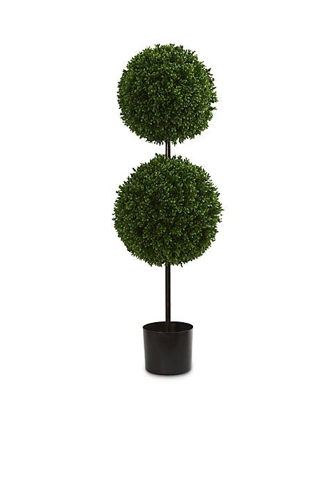 Nearly Natural 3.5-ft. Boxwood Double Ball Artificial Topiary