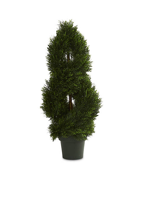 Nearly Natural Double Pond Cypress Spiral Artificial Topiary