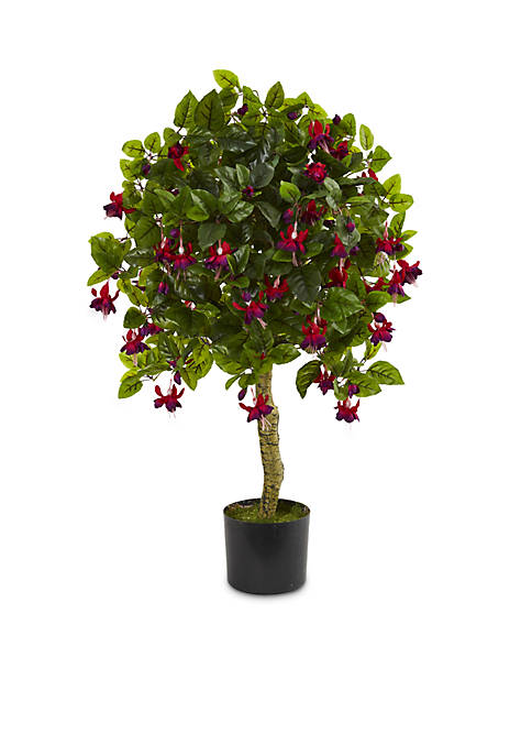 Nearly Natural 3-ft. Fuchsia Artificial Tree
