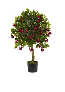 3-ft. Fuchsia Artificial Tree