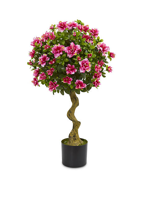 Nearly Natural 3-ft. Azalea Artificial Topiary Tree