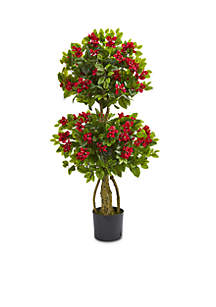 4-ft. Double Bougainvillea Artificial Topiary Tree