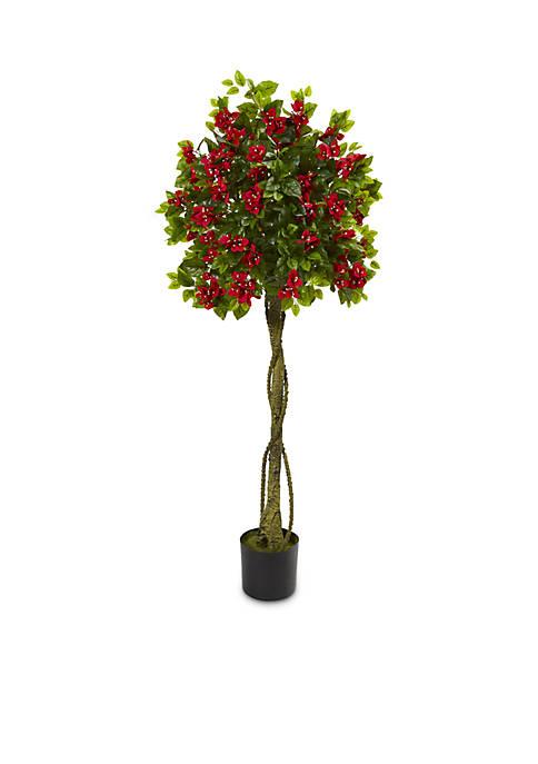 5-ft. Bougainvillea Artificial Topiary Tree