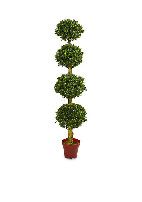 6-ft. Four Tier Boxwood Artificial Topiary Tree