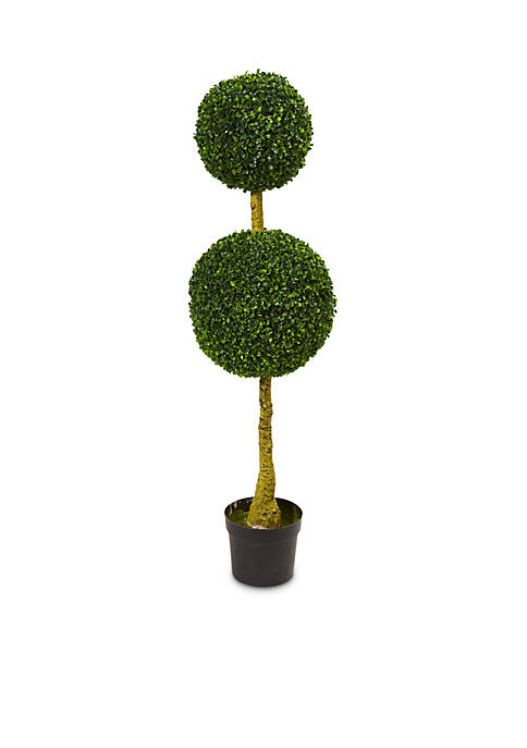 Double Topiary Boxwood Artificial Tree (Indoor/Outdoor)