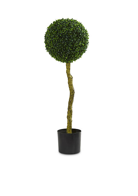 Nearly Natural Boxwood Artificial Topiary Tree (Indoor/Outdoor)