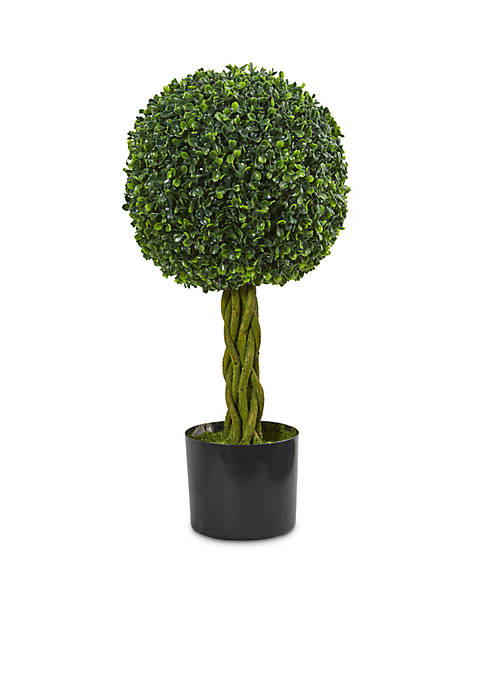 Nearly Natural Boxwood Ball with Woven Trunk Artificial