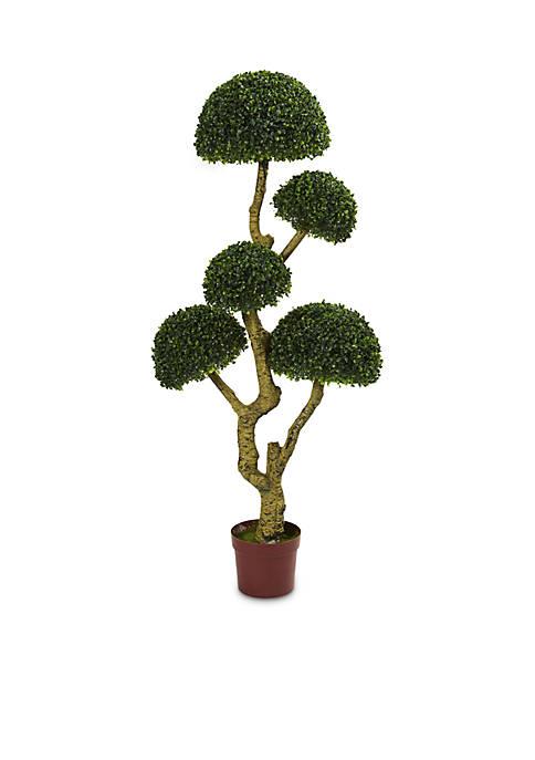 Five Head Boxwood Artificial Tree (Indoor/Outdoor)