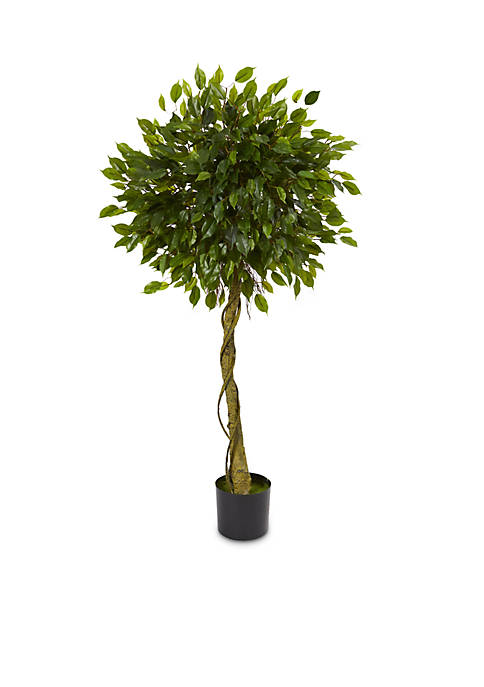 Nearly Natural Ficus Artificial Topiary Tree (Indoor/Outdoor)