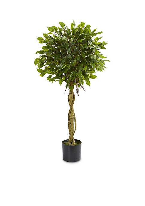 Nearly Natural 4-ft. Ficus Artificial Topiary Tree