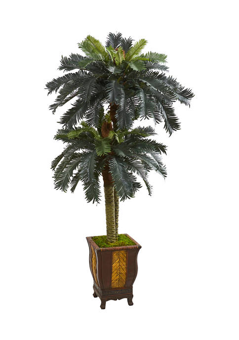 Nearly Natural Double Sago Palm Tree in Designer