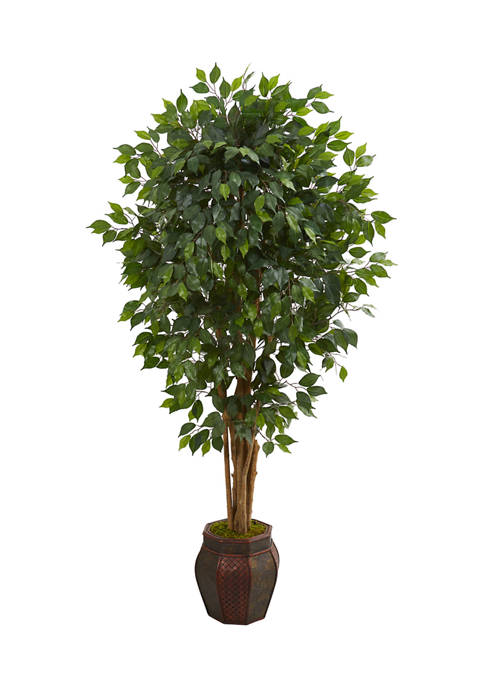 Nearly Natural Ficus Tree in Decorative Planter