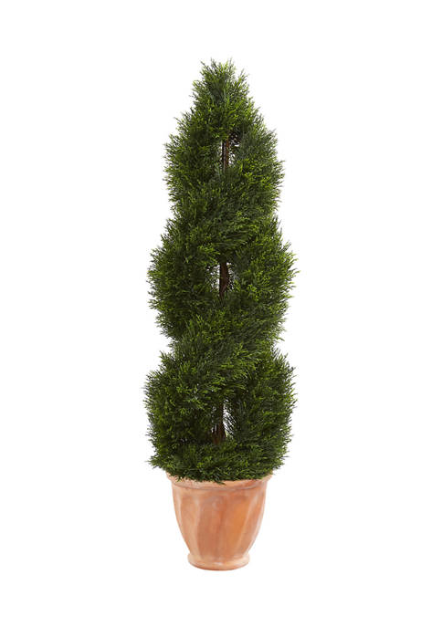 Nearly Natural Double Pond Cypress Topiary Tree in