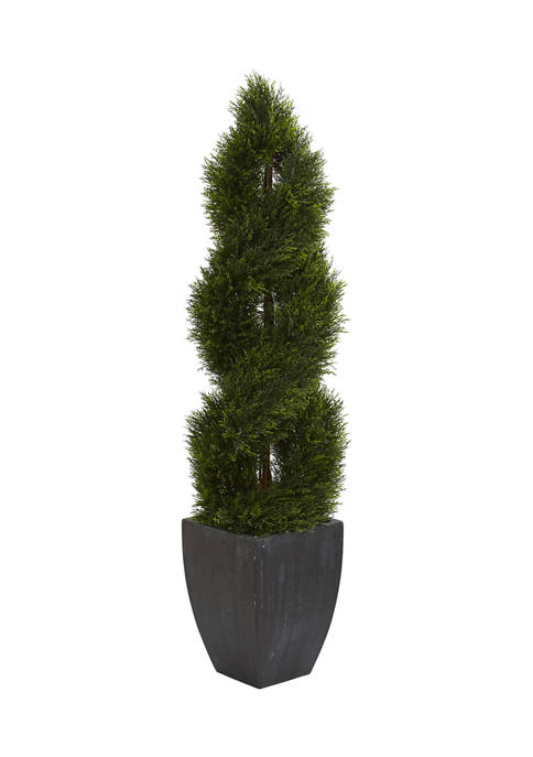 Nearly Natural 5 Double Pond Cypress Spiral Topiary