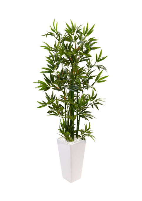 Nearly Natural Bamboo Tree in Tower Planter