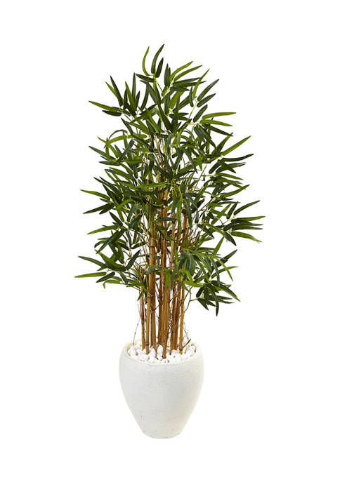 Nearly Natural Bamboo Tree in Oval Planter