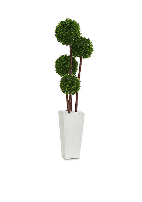 Nearly Natural Boxwood Artificial Topiary Tree