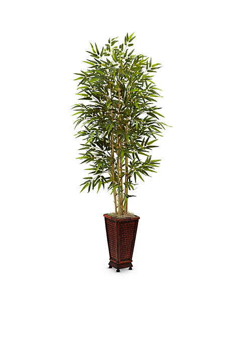 Nearly Natural Bamboo Tree with Decorative Planter