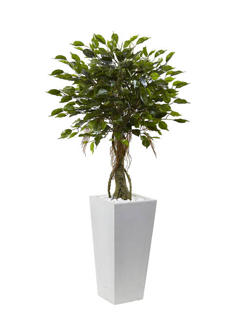 Nearly Natural Ficus Tree with Planter, Indoor/Outdoor