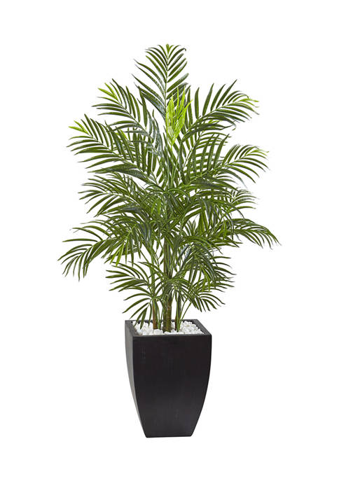 Nearly Natural Areca Palm Tree with Wash Planter