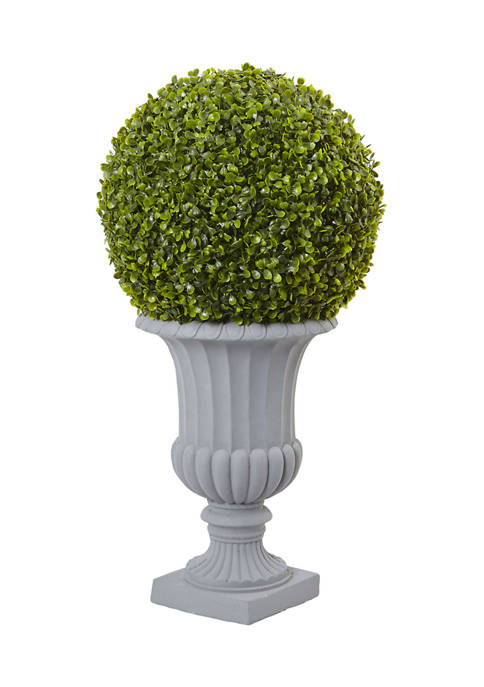 Nearly Natural Boxwood Topiary with Urn Indoor/Outdoor