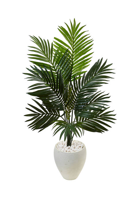 Nearly Natural Kentia Palm Tree in Oval Planter
