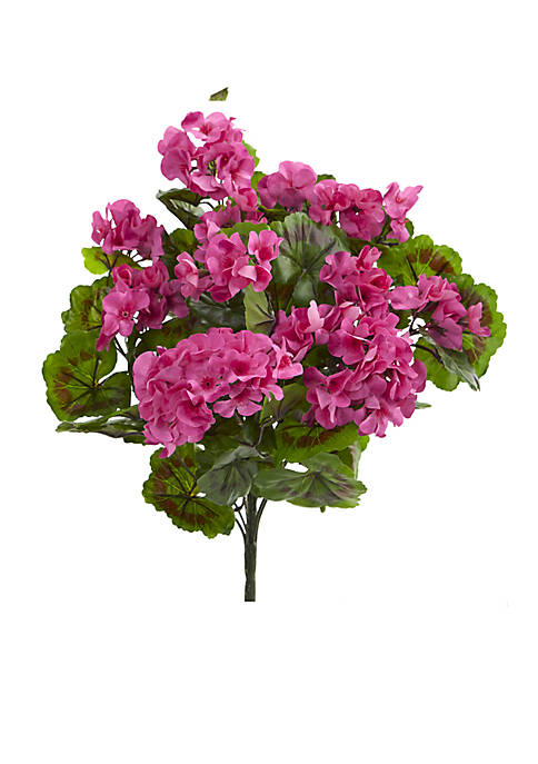 Geranium Artificial Bush, Set of 3 (Indoor/Outdoor)