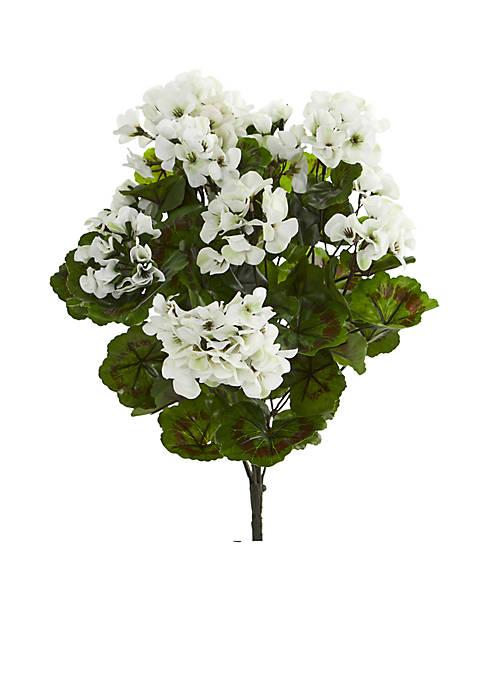 Nearly Natural Geranium Artificial Bush, Set of 3