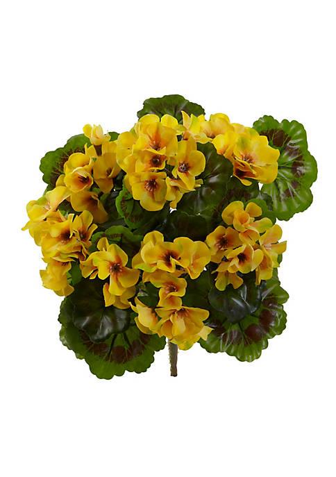 Geranium Artificial Bush, Set of 4 (Indoor/Outdoor)