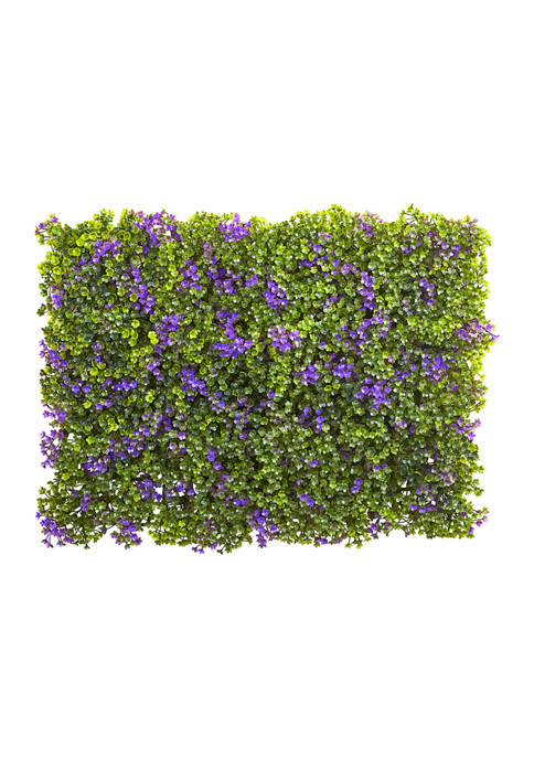 Nearly Natural Purple and Green Clover Mat