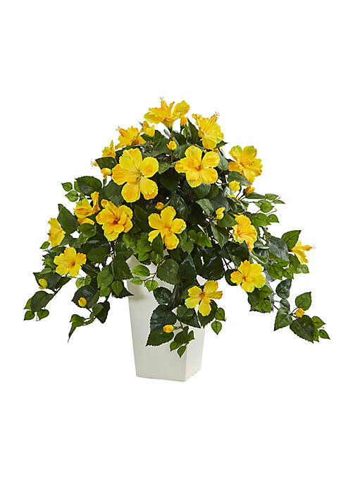 Nearly Natural Hibiscus Artificial Plant