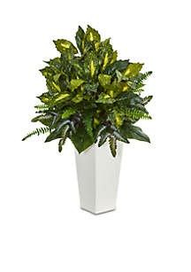Mixed Emerald Philodendron Artificial Plant