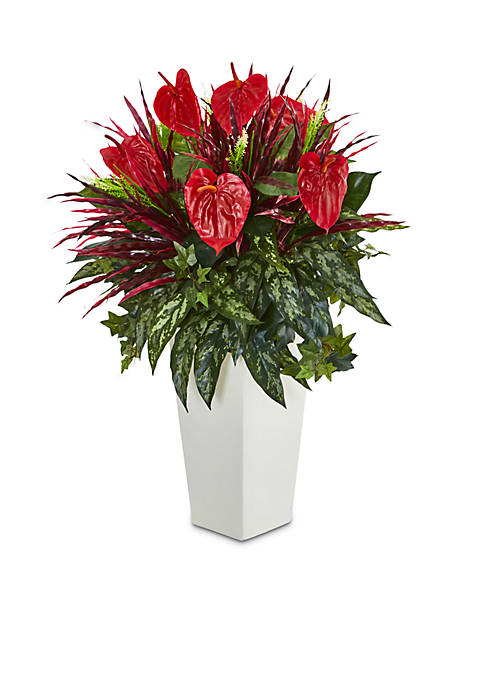 Nearly Natural Mixed Anthurium Artificial Plant