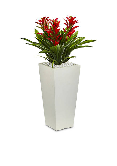 Triple Bromeliad Artificial Plant