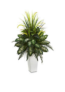 Mixed River Fern and Dogtail Artificial Plant