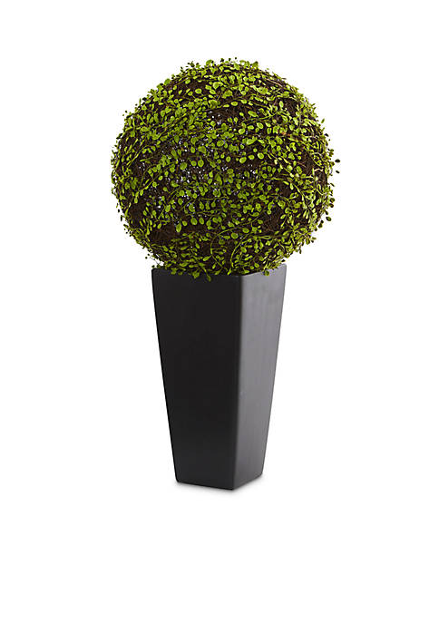 Nearly Natural Mohlenbechia Ball Artificial Plant in Tower