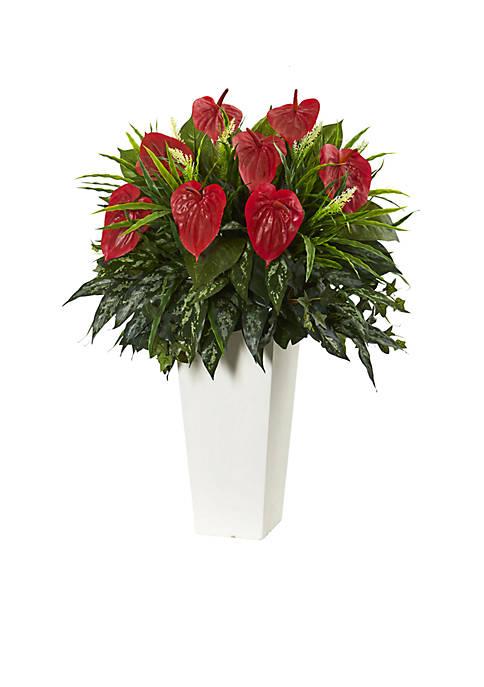 Mixed Anthurium Artificial Plant