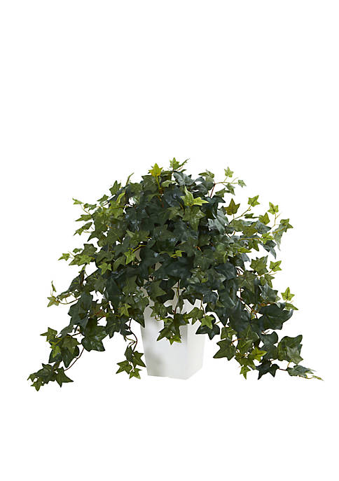 Nearly Natural Puff Ivy Artificial Plant in White