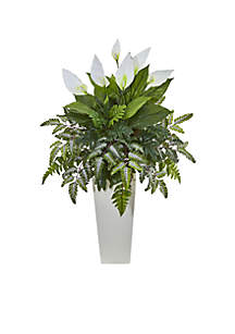 Mixed Spathiphyllum Artificial Plant