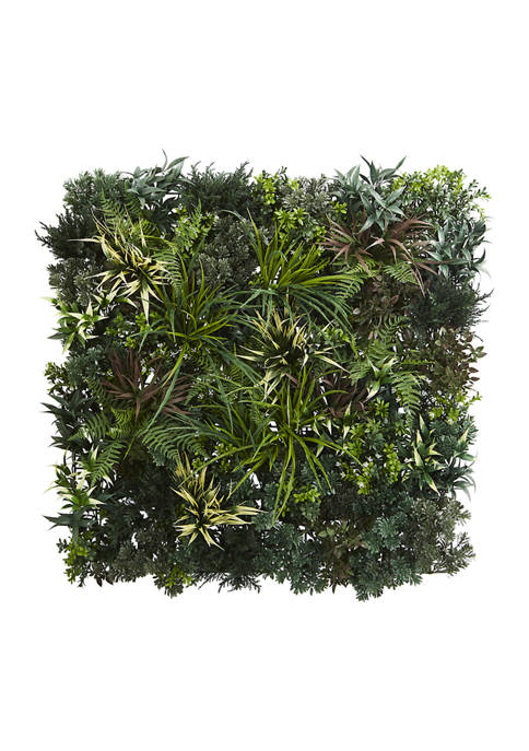 Nearly Natural Greens and Fern Living Wall Indoor/Outdoor
