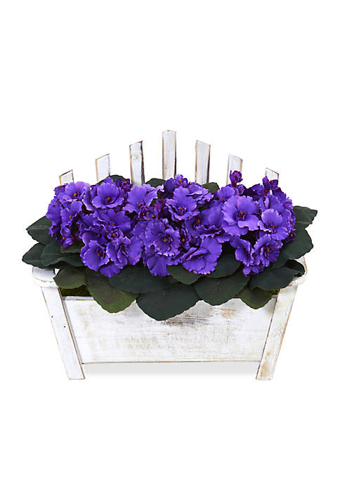 Nearly Natural African Violet Artificial Plant