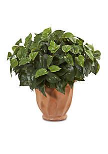 Pothos Artificial Plant in Terracotta Planter