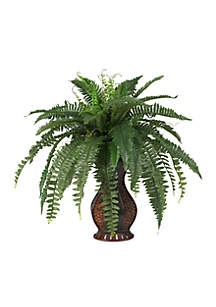 Boston Fern Silk Plant with Urn