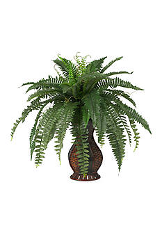 Nearly Natural Boston Fern Silk Plant with Urn