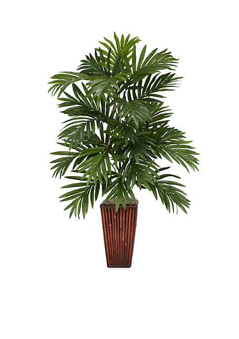 Nearly Natural Areca Palm Silk Plant with Bamboo