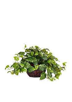 Nearly Natural Pothos Silk Plant and Decorative Vase