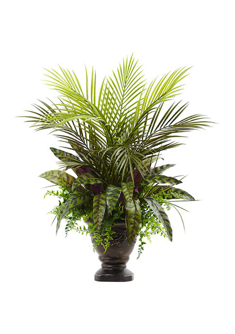 Nearly Natural Assorted Areca Palm, Fern and Peacock