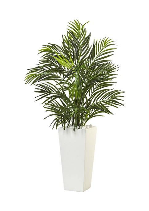 Nearly Natural Areca Palm in Square Planter