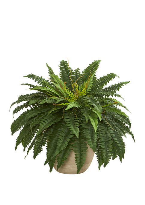 Nearly Natural 22 Inch Boston Fern Artificial Plant