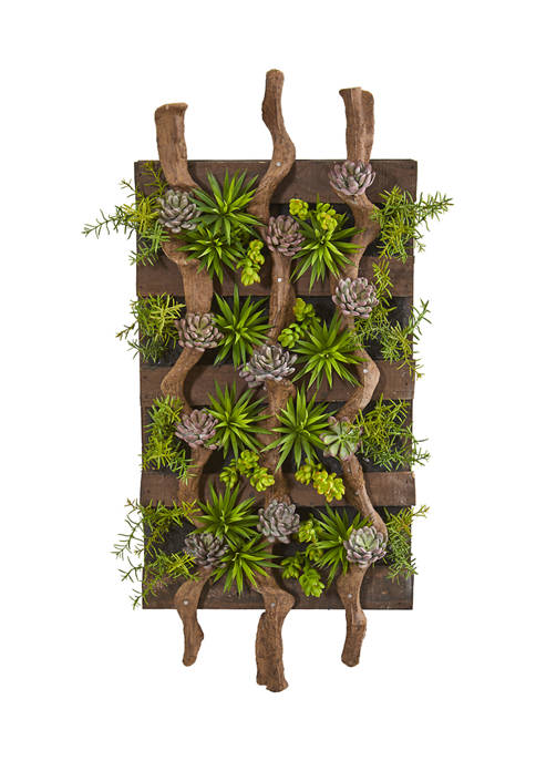 Nearly Natural Assorted Succulent Living Wall
